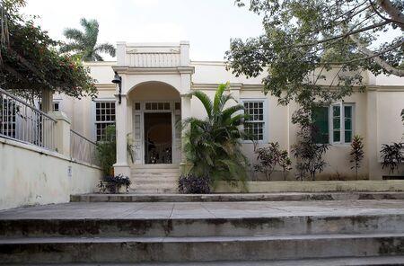 hemingway: Finca Vigia facade  Finca Vigia was the home of Hernest Hemingway in the suburb of the Havana, Cuba