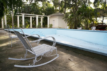 hemingway: The swimming pool at the Finca Vigia   Finca Vigia was the home of Hernest Hemingway in the suburb of the Havana, Cuba  Now the Finca Vigia is a museum