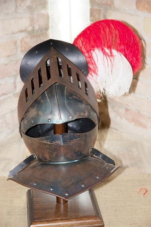 moveable: Medieval close helmet. A bowl helmet with a moveable visor