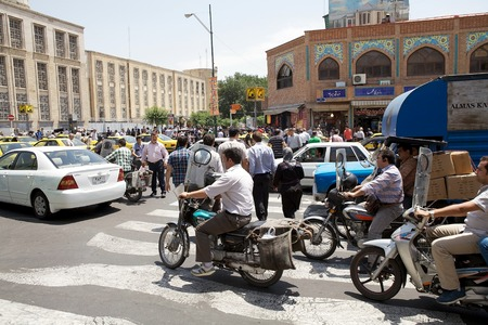 Traffic jams along the street in Tehran, Iran. More than 3 million vehicles are on the roads in the capital Editorial