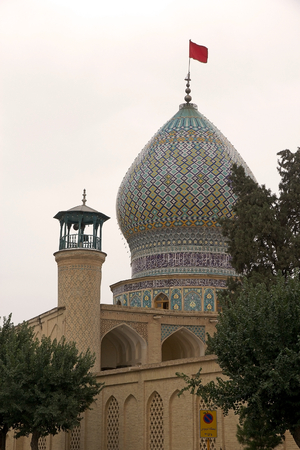 shiraz: Shah Cheragh Mosque dome, Shiraz, Iran. The place is a funeral monument and mosque in Shiraz, housing the tombs of brothers Ahmad and Muhammad, sons of Musa al Khadim and brothers of Ali arl Ridha. The two took refuge during the Abbassid persecution of Sh