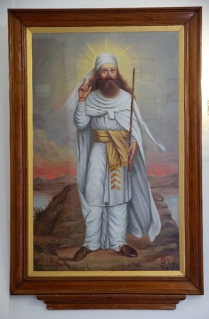 Zoroaster also nown as Zarathustra, the founder of the Zoroastrianism at the zoroastrian fire temple at Yazd, Iran  Zoroastrianism is an ancient religion and It was once the state religion of the Achaemenid, Parthian and Sasanid Empires