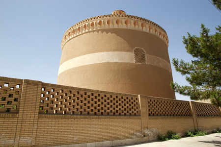 Ancient dovecote at Meybod, Iran  This dovecote was a circular structure inteded to house pingeons or doves  In some culture the possesion of a dovecote was a symbol of status and power and was regulated by law  Only noble had this special privilege