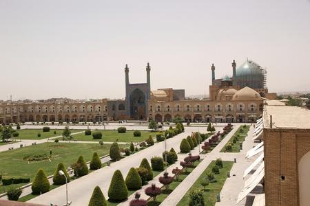 샤 모스크라고도 이맘 모스크 Naqsh- 전자 자한 광장, 이스파한,이란의 남쪽에 서 서. 스톡 콘텐츠