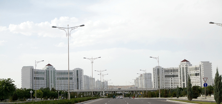 gained: Modern buildings in Ashgabat, Turkmenistan. Ashgabat is the capital of Turkmenistan. After the existing the Soviet Union, the city gained many high-rise residential building, primarily consisting of residential tower. Ashgabat has adopted modern cons