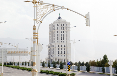 gained: Modern building in Ashgabat, Turkmenistan. Ashgabat is the capital of Turkmenistan. After the existing the Soviet Union, the city gained many high-rise residential building, primarily consisting of residential tower. Ashgabat has adopted modern constructi Editorial