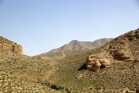Turkmenistan landscape among the mountains near the iranian border photo