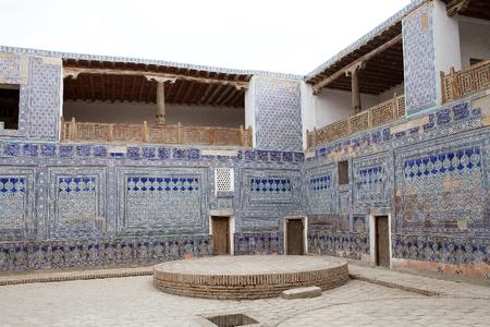 Architecture details of the Tash Khovli Palace, the summer residence of Khivan Khans, at Itchan Kala, Khiva, Uzbekistan.