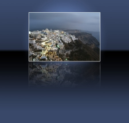 thira: Thira, Santorini island, Greek: the caldera after the sunset, before the night