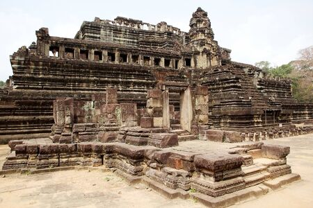 11th century: Baphuon temple is located in Angkor Thom, northwest of Bayon, Angkor, Siem Reap, Cambodia. The temple was built in the mid 11th century. It is a classic Khmer architecture called mountain temple, an architectural rappresentation of Mount Meru, the home of Stock Photo