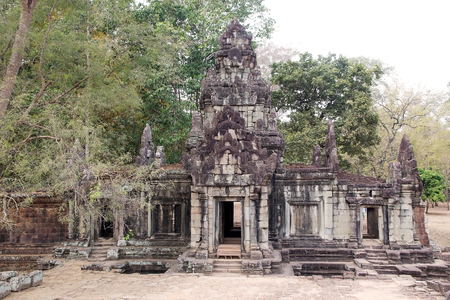 enduring: Building ruins in Angkor Thom, Siem Reap, Cambodia. Angkor Thom was the lsat and most enduring capital of the Khmer Empire and covers an area of ??9 Kmsq Within Which are located several monuments Stock Photo