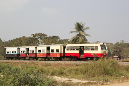state owned: Train in Myanmar or Burma. Myanmar has 3991 km railway network that is run by Myanmar Railways a state owned railway company under the Ministry of Railways