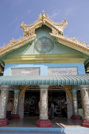 sone: Sone Oo Pone Nya Shin Pagoda, Nga Pa hill, Sagaing hill, Sagaing, Myanmar. Sone Oo Pone Nya Shin Pagoda lies on the top of Nga Pa hill, one of the 37 hilltop of Sagaing Hills. It was built in 674.