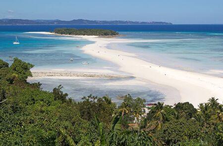 Nosy Iranja, Madagascar. Nosy Iranja is an idyllic island 30 miles south of Nosy Be.