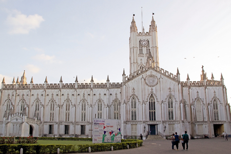calcutta: St. Pauls Cathedral, Kolka West Bengal, India. St. Pauls Cathedral is an anglican cathedral of the victorian age. It was completed in 1847. It is the largest cathedral in Kolkata and the first Episcopal Church in Asia. Editorial