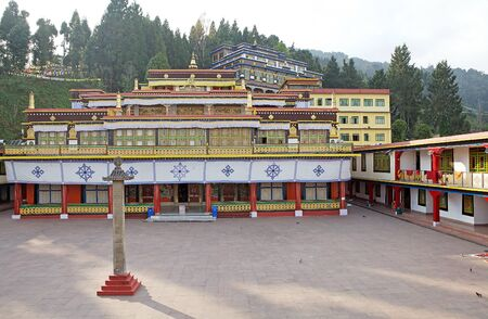 sectarian: Rumtek Monastery, Sikkim, India. Rumtek Monastery is a gompa located near gangtok, capital of Indian state of Sikkim. It is a focal point of the sectarian tensions within the Karma Kangyu school of Tibetan Buddhism that caracterize the Karmapa controversy
