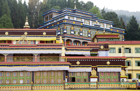 controversy: Rumtek Monastery, Sikkim, India. Rumtek Monastery is a gompa located near gangtok, capital of Indian state of Sikkim. It is a focal point of the sectarian tensions within the Karma Kangyu school of Tibetan Buddhism that caracterize the Karmapa controversy