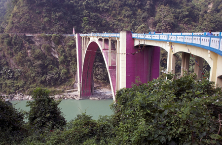 coronation: Coronation Bridge, also known as Sevoke, Bridge, Sevoke, West Bengal, India. Coronation Bridge spans across the Teesta river, connecting the District of darjeeling and Jalpaiguri. It was completed in 1941 and it was named to commemorate the coronation of