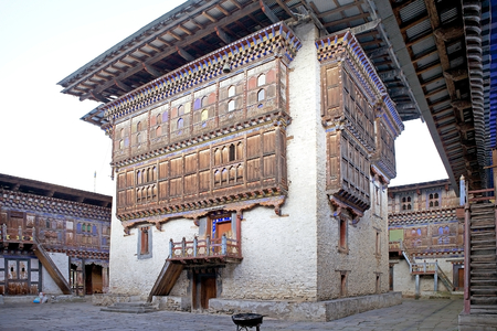 monarchy: Central tower in the courtyard at the Wangduechhoeling Palace ruins, Bumthang, Bhutan. The palace was built in 1856 by Trongsa Penlop Jigme Namgyel and it is the birthplace of the Bhutans monarchy. Editorial