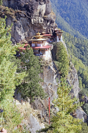 flew: Tigers Nest, Paro, Bhutan. Taktsang Palphug Monastery also known as Tigers Nest is a prominent Himalayan Buddhist sacred site and temple complex. A temple complex was first built in 1692. According to the legend, it is believed that Guru Rimphoce flew t