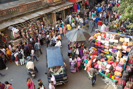 Shopping near the New Market, Kolkata, india. New Market is an enclosed market located in Lindsay Street. The streets around the New Market are used to be an upscale shopping area