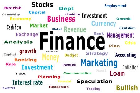 bearish: Finance text on isolated background