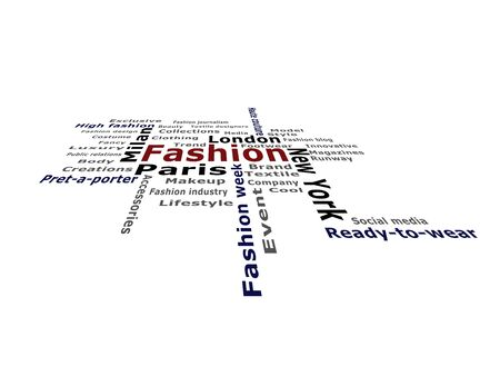 keywords: Fashion keywords on the isolated background Stock Photo