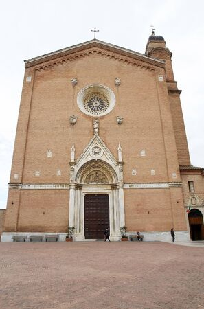 enlarged: Basilica of San Francesco, Siena, Tuscany, Italy. It was erected in 1228-1255 and later enlarged in 14th-15th centuries.