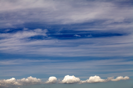 cloudscapes: Blue sky with clouds