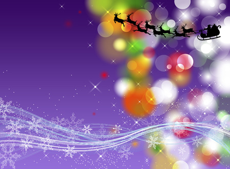 santaclaus: Christmas background with sparkles and lights
