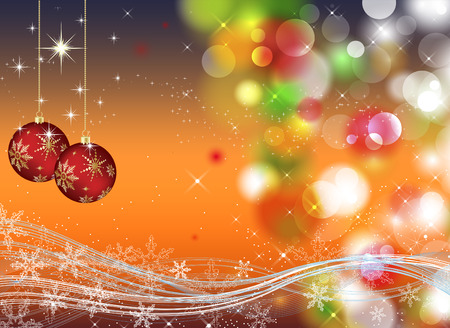 Christmas background with sparkles and lights