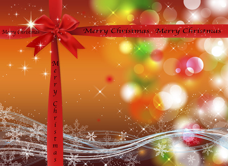 merrychristmas: Christmas background with sparkles and lights