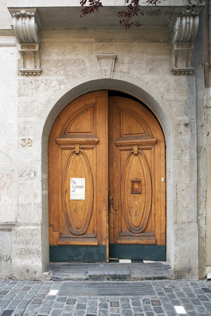 intersects: Entrance at the building at Calle Londres 38 in the Barrio Paris-Londres in Santiago, Chile. This building was a jail and torture facility during the Pinochet regime. The neighborhood intersects at Calle Londres and Calle Paris. The barrio was developed i