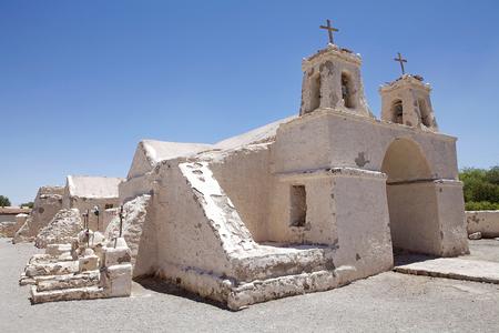 San Francisco de Chiu Chiu church at the Chiu Chiu village, Chile. It was built in 16th century. The village is 30 km from Calama, in the calama province in Northern Chile, in the Antofagasta Region.