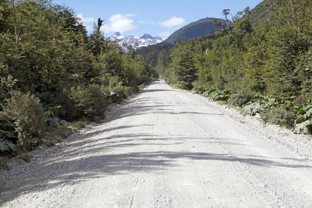 The Carretera Austral in Chile. Carretera Austral is the Chiles Route 7, the highway that runs about 1200 km trough the rural Patagonia.