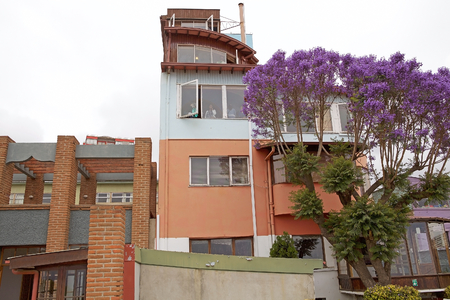 Pablo Nerudas house, La Sebastiana, in Valparaiso, Chile. La Sebastiana is one of the house of Chilean writer and poet Pablo Neruda, Nobel Prize for Literature in 1971