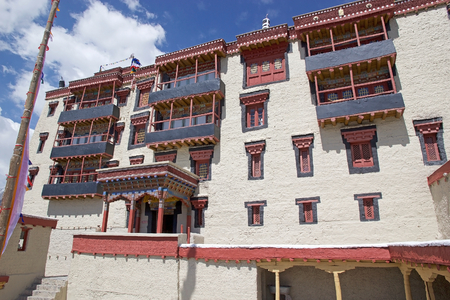 Stok Palace in Ladakh, India. It is the current residence of the former royal family of Ladakh.