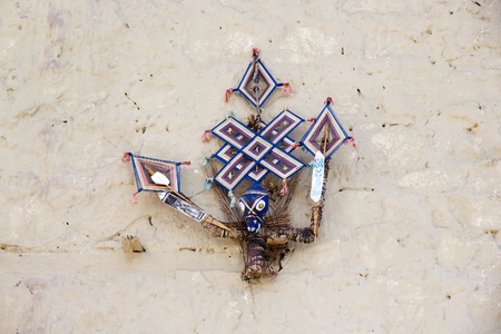Buddhist symbol at the Stok Monastery in Ladakh, India. Editöryel