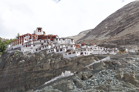 Diskit Monastery in Nubra Valley, Ladakh, India. It is the oldest monastery in Nubra Valley and it was founded in 14th Century.