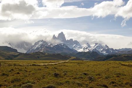 Cerro Fitz Roy mountain at the Los Glaciares National Park in Patagonia, Argentina