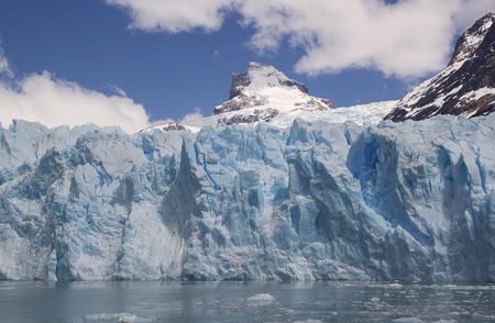 Spegazzini Glacier view from the Argentino Lake, Argentina. Spegazzini Glacier is grounded on the bottom of the lake, which depth in this area is around 150 meters