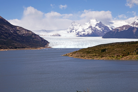Perito Moreno Glacier in the Los Glaciares National Park in Patagonia, Argentina. It was named from the explorer Francisco Moreno. The 250 Kmq ice formation and 30 km in lenght is one of the 48 glaciers fed by the Southern Patagonian Ice Field