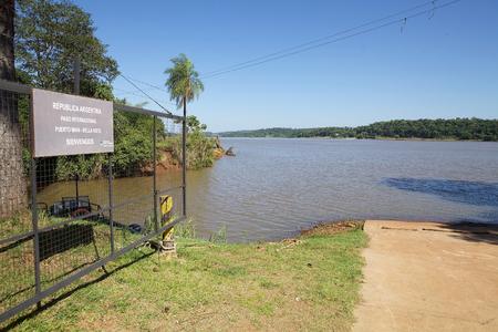 Argentina and Paraguay border along the Parana' river at Puerto Mani - Bella Vista, Argentina