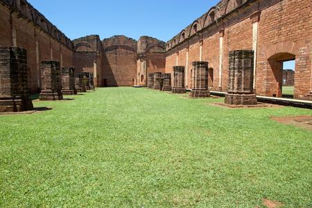 Ruins of Jesus de Tavarangue located in Itapua, Paraguay.