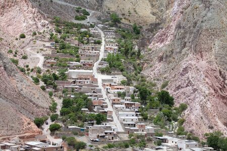 Iruya village in the Salta Province of northwestern of Argentina. Iruya is located in the altiplano region along the Iruya river at an elevation of 2780 meters