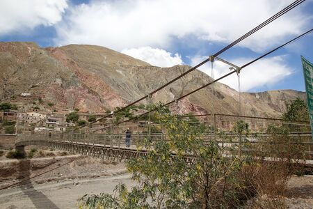 Pedestrian walkway at the Iruya village in the Salta Province of northwestern of Argentina. Iruya is located in the altiplano region along the Iruya river at an elevation of 2780 meters