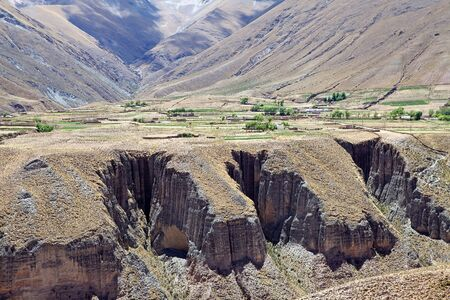 Altiplano along the Iruya river in the Salta Province of northwestern of Argentina Stock Photo