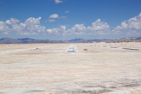 Salinas GRandes in north west part of Argentina in the provinces of Salta and Jujuy at an average altitude of 3450 meters above sea level and having an area of about 212 sq km