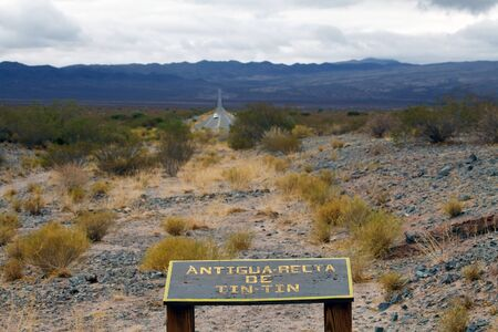 The Recta Tin Tin is a perfectly straight portion of Highway 33, east of Cachi City, Salta Province, Argentina, which pass trough Los Cardones National Park. It takes the route of an old pre Hispanic road.