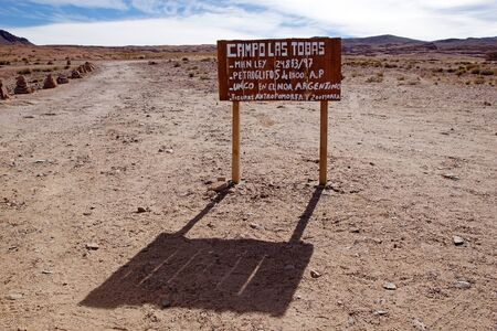 Campo Las Tobas is a site with rock art in which the engraving were made on the ground, Antogagasta de la Sierra, Argentina. It is an area of 3700 square meters that has soft rock that themself to the incision, in which about 250 motifs can be observed